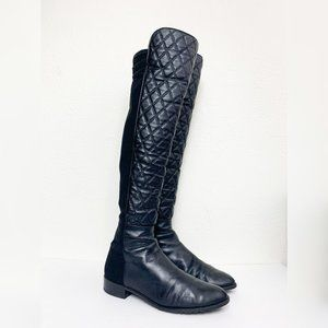 Stuart Weitzman Quilted Leather 5050 Riding Boots